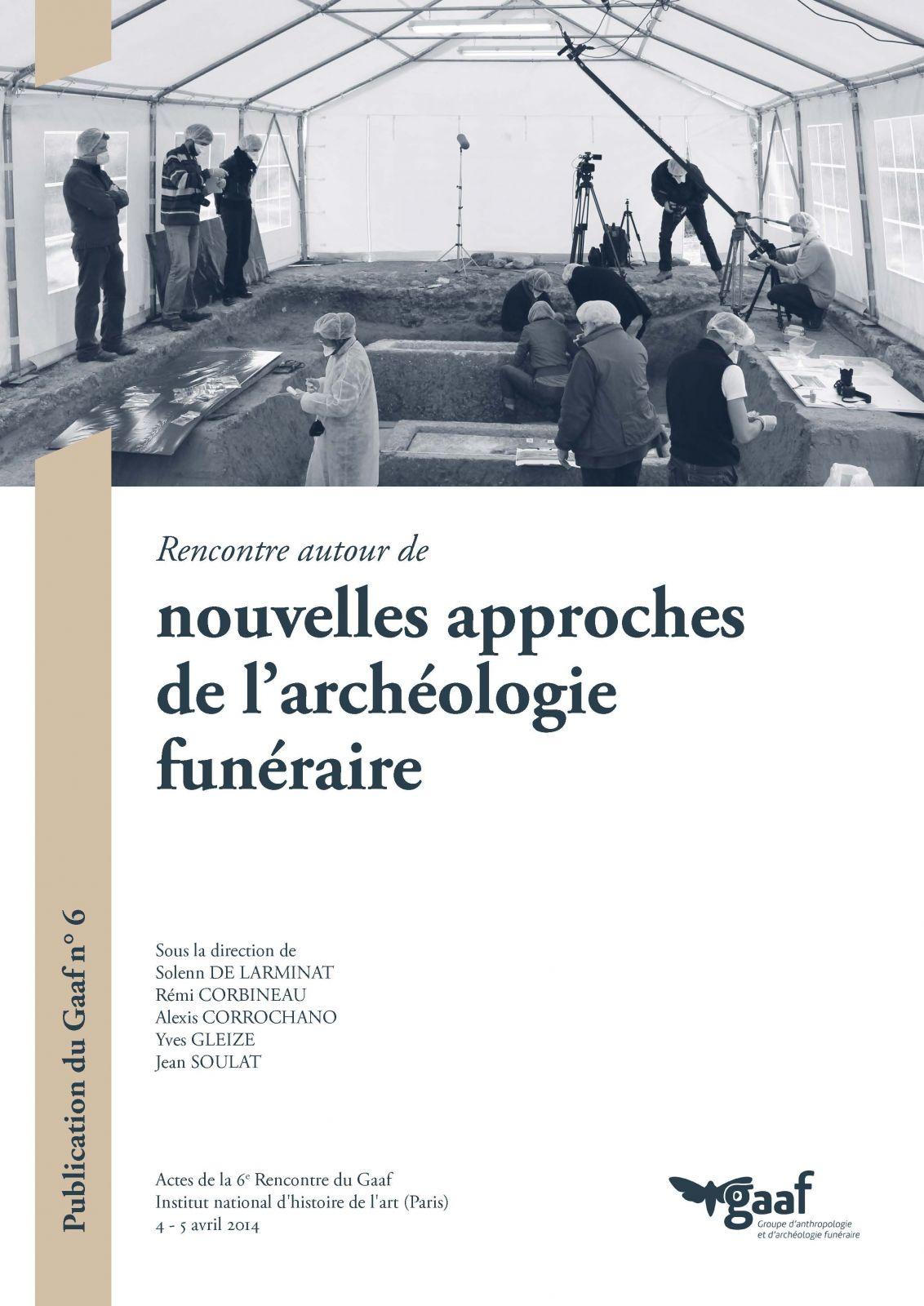 Nouvelles approches de l'archéologie funéraire (couverture de l'ouvrage)