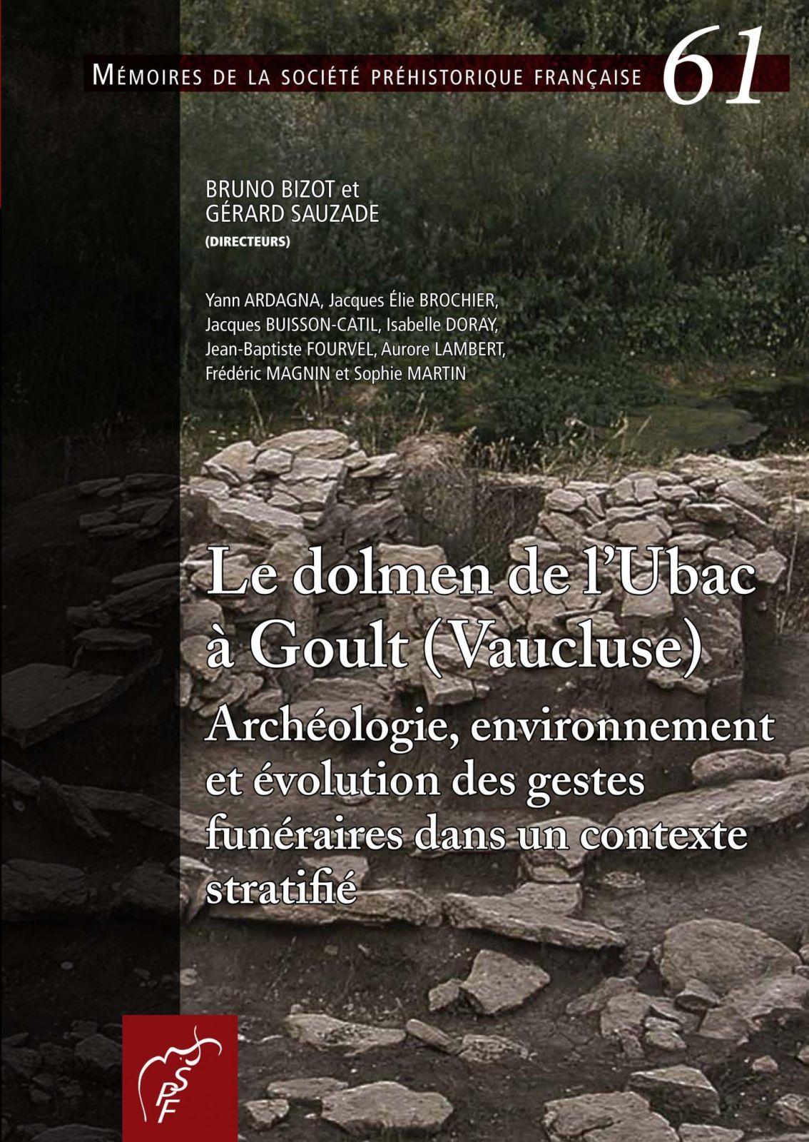 Le dolmen de l'Ubac (couverture de la publication)